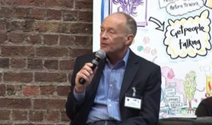 creative industries keynote speaker David Parrish speaking at Cr8net conference at creative hub in creative city London on entrepreneurship in creative business
