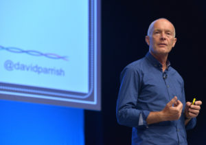 creative industries keynote speaker David Parrish at creative business conference speaking on creative marketing and communication