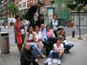 David Parrish with startup workshop participants in Bilbao, Spain