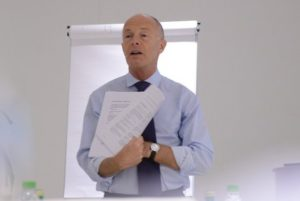 David Parrish leading a creative business training workshop in Saudi Arabia