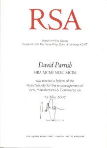 David Parrish. RSA Certificate