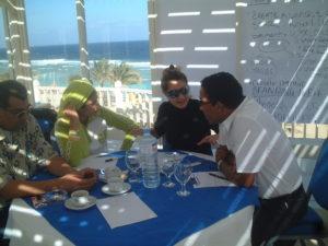 David's business development workshop with business management delegates in Egypt