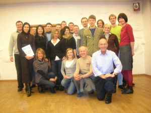 David with workshop participants at a British Council creative economy project with creative entrepreneurs in Lithuania