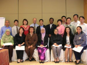 Workshop participants in Singapore with David Parrish international creative industries speaker and consultant