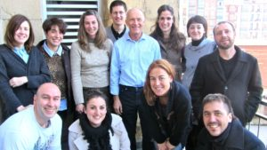 David Parrish, international creative industries expert, with creative business training workshop participants in Spain