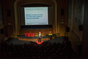 David Parrish TEDx speaker in Tromsø giving TED talk on Creative Industries