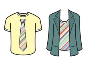 T-Shirts and Suits image