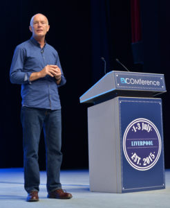David Parrish keynote speaker at EVCOMference2015