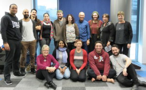 David Parrish with ART Venture programme participants in New Zealand