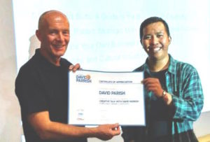 David and Febby at workshop in Bandung Indonesia