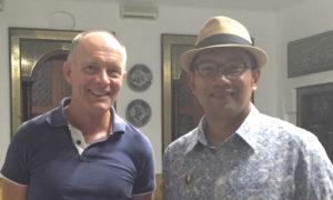 David with Mayor of Bandung, Ridwan Kamil