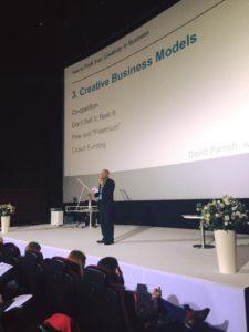 David Parrish speaking at the Business Wisdom Summit Ukraine
