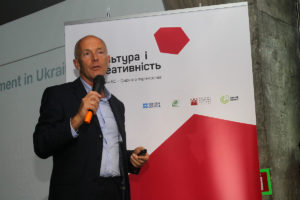 David Parrish speaks in Ukraine