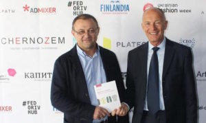 CHERNOZEM publisher Konstantine Kozemyaka with creative industries author and creative economy speaker David Parrish