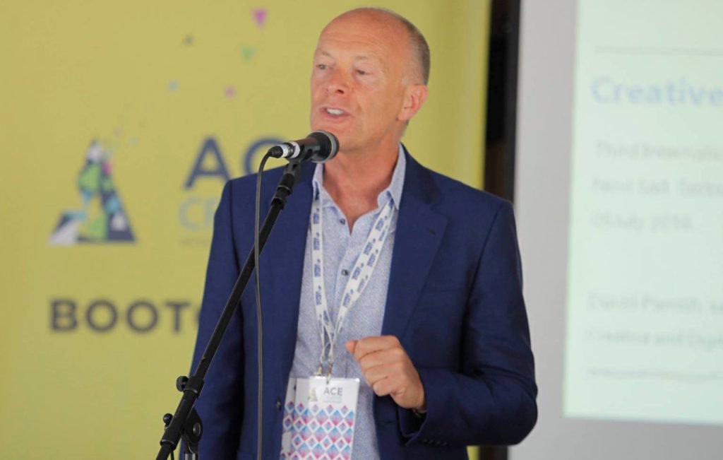 David Parrish creative industries keynote speaker at Startup Serbia