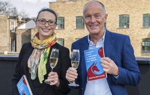 Translator Florence Magee (neé Harmelin) with author David Parrish