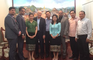 David meeting government officials to discuss the creative industries in Laos (Lao PDR)