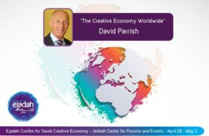David Parrish. Speaker on the Creative Economy Worldwide
