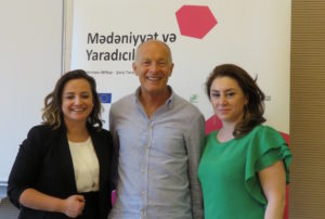 David with British Council colleagues in Azerbaijan
