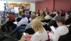 Creative Economy Speaker David Parrish in Minsk, Belarus