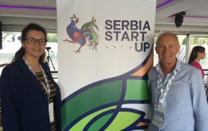 Tatjana Kalezic and David Parrish at Serbia Creative Startup Bootcamp