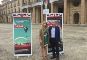 Maria Fitzpatrick and David Parrish at Asturias Creative Pole in Gijón