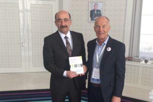 Azerbaijan Minister Dr Garayev Abulfas Mursal oglu with David Parrish