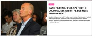 David Parrish: I'm a spy for the cultural sector
