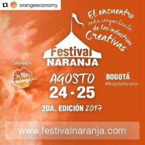 Orange Economy Speaker at Festival Naranja in Colombia