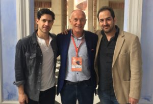 David Parrish with Festival Naranja organisers Juan Diego Ortiz and Felipe Buitrago
