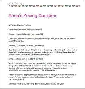 How to calculate prices in the creative industries