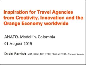 Inspiration for Travel Agencies from Creativity, Innovation and the Orange Economy Worldwide