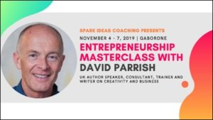 David ParrDavid Parrish Entrepreneurship Masterclass in Botswana