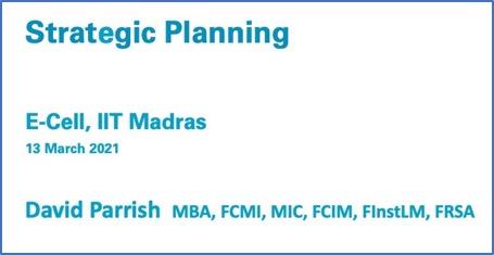 Strategic Planning slides