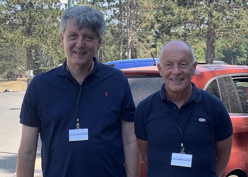 Professor Jovan Mirkovic, PhD, President of the Directors' Board of Montenegrin Science Promotion Foundation, with David Parrish